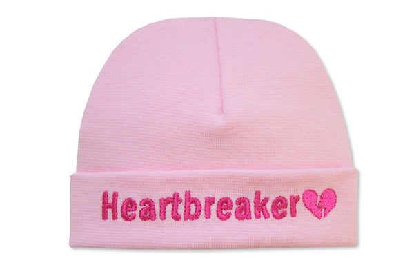 EMBROIDERED HAT HEARTBREAKER PINK