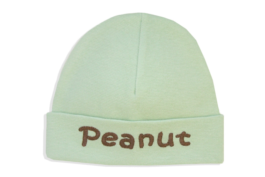EMBROIDERED HAT PEANUT Green