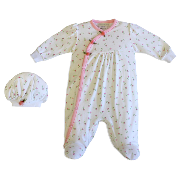 Rosebud footie set