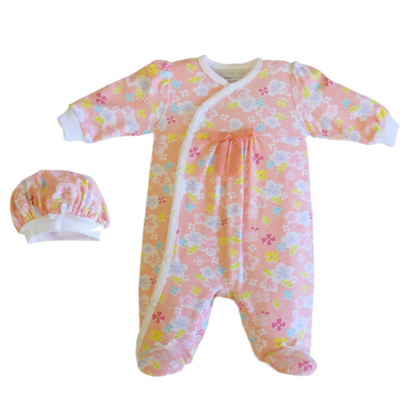 Sunshine Floral footie set