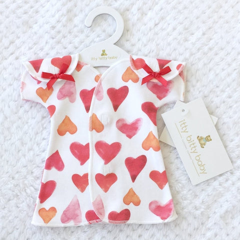 NICU Fit & Flare Dress Watercolor Hearts
