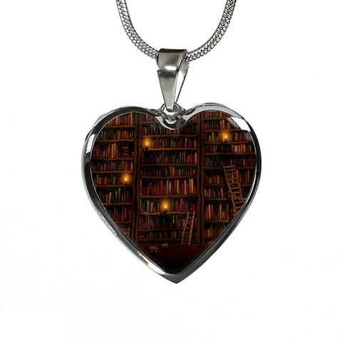 Old Bookshelf Heart Engraving