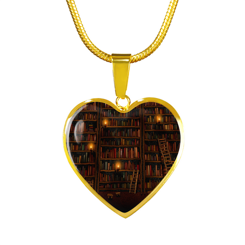 Old Bookshelf Heart (G Engraving)