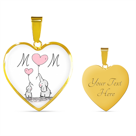 Mom Gold Heart  (Engraving)