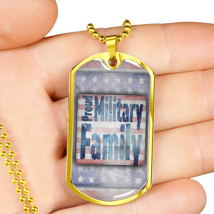 Proud Military Family (Engraving)