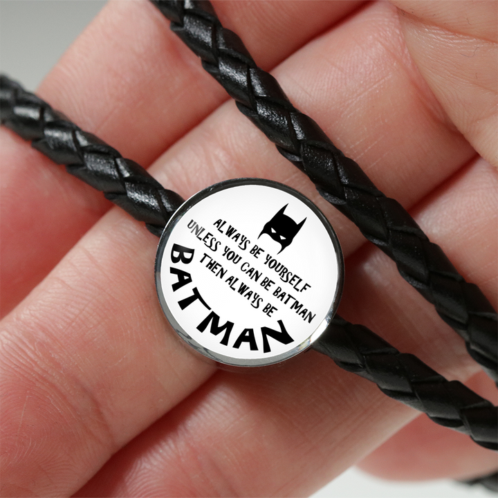 Always Be Yourself Leather Bracelet (Engraving)
