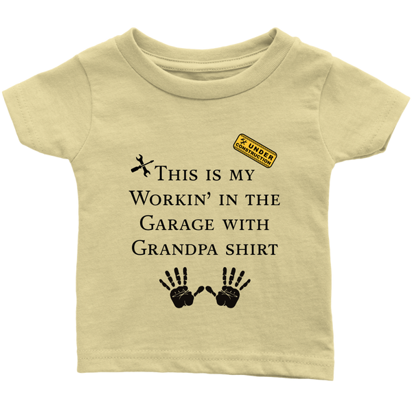 Working with Grandpa infant T