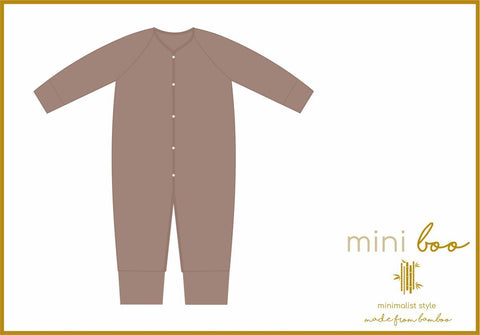 BAMBOO PLAYSUIT - SEQUOIA BARK