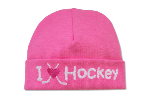 EMBROIDERED HAT HOCKEY FUCHSIA