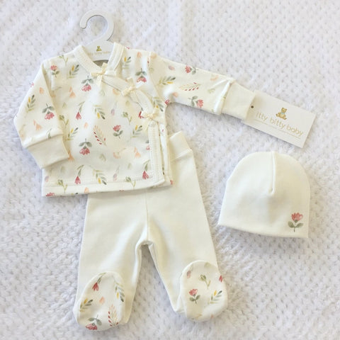 Vintage Garden layette set long sleeve