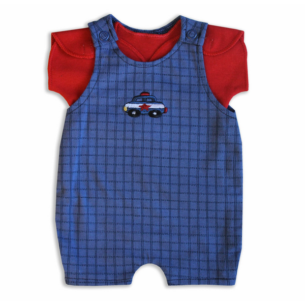 NICU Overall $ T-Shirt set Police car