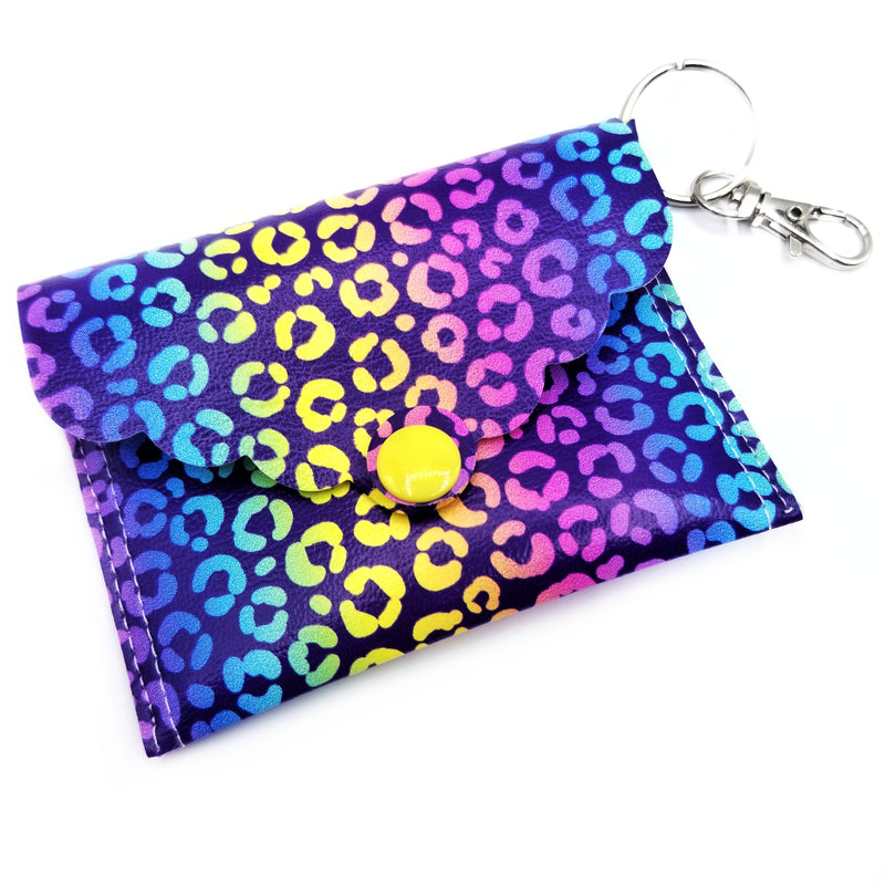Rainbow Cheetah Mini Clutch