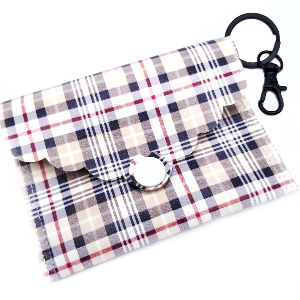 Pinstripe Plaid Mini Clutch