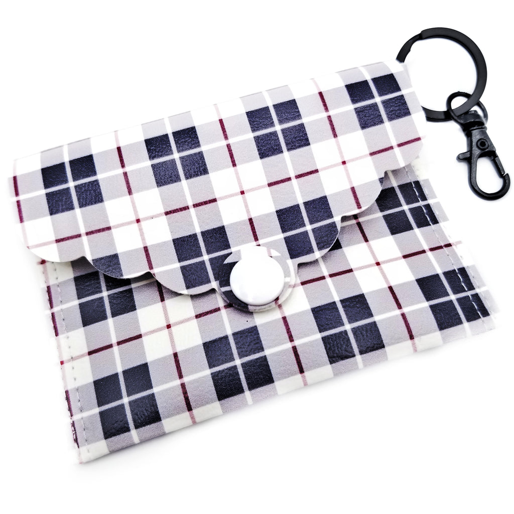 Black and Tan Plaid Mini Clutch