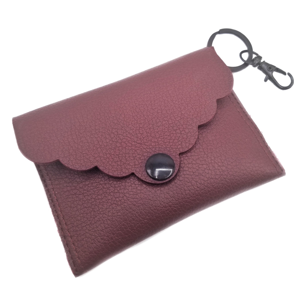Burgundy Mini Clutch