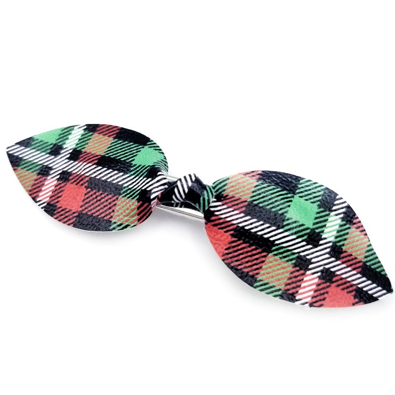 Holiday Plaid Sailor Hair Bow
