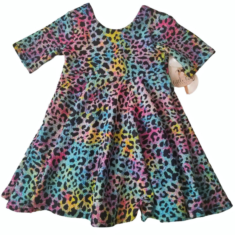 Rainbow Leopard Dress