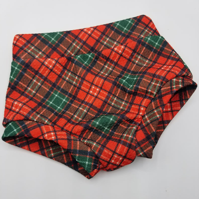 Holiday Plaid Bummies