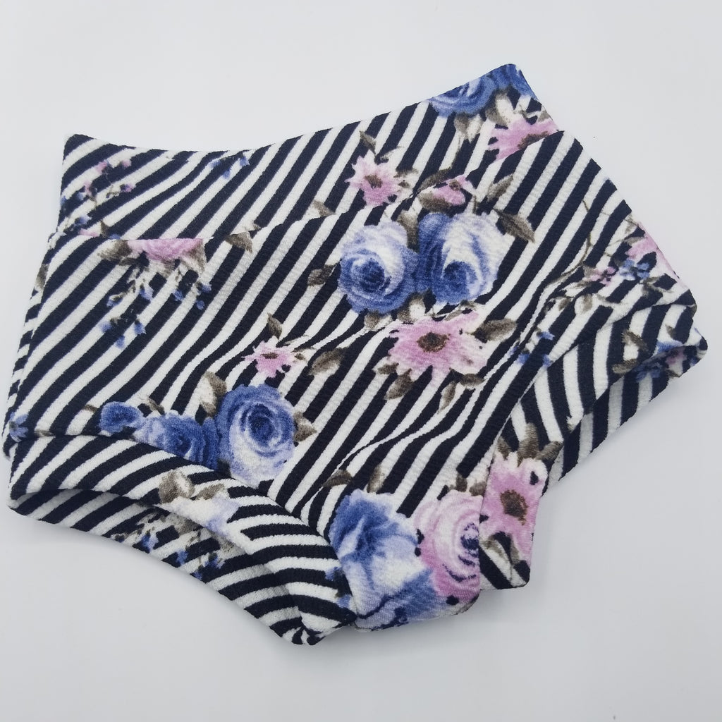 Floral Stripes Bummies