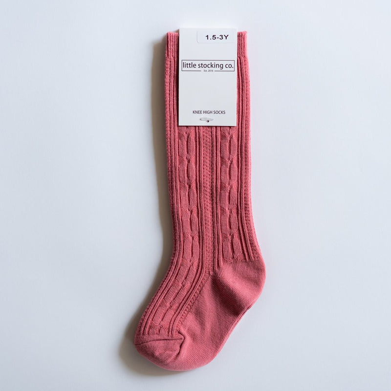 Hibiscus Cable Knit Socks