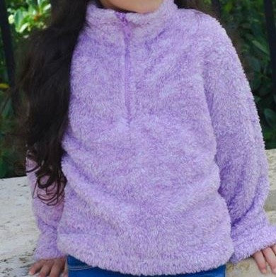 Lilac Pullover Sherpa Jacket