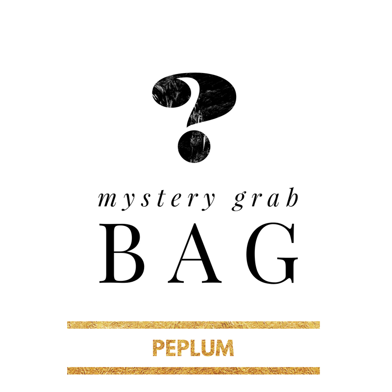 Mystery Grab Bag Solid Peplum