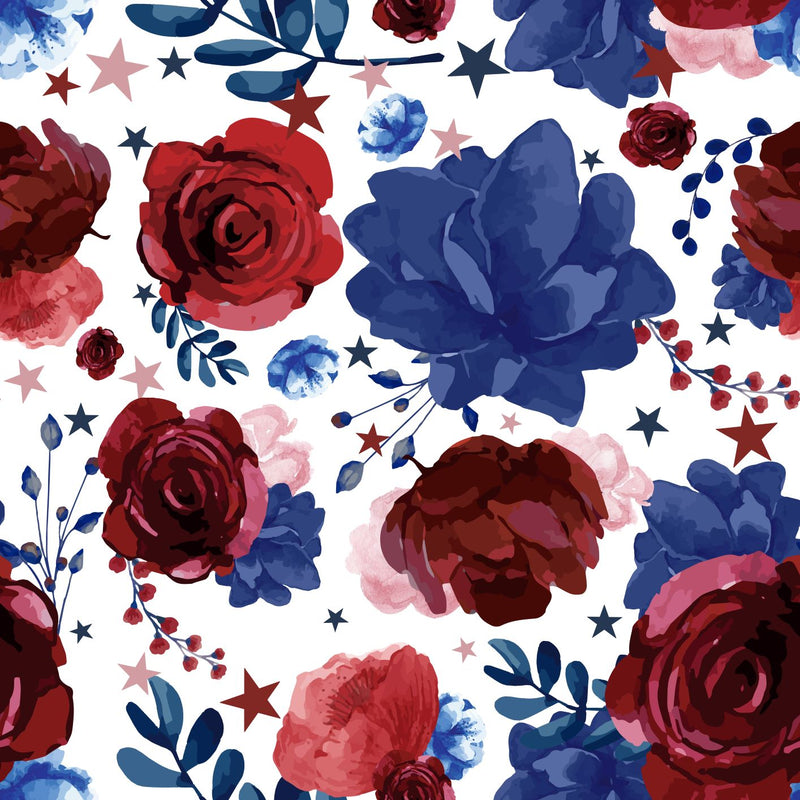 Patriotic Floral Luxury Blanket