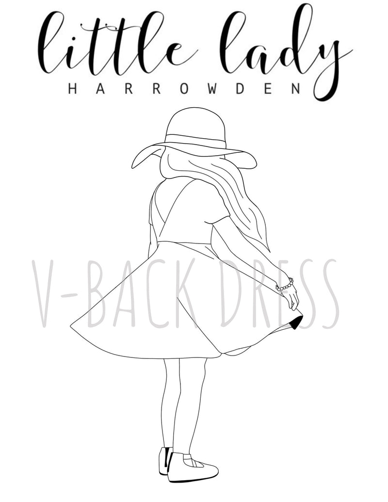 V-Back Dress Dress Coloring Page