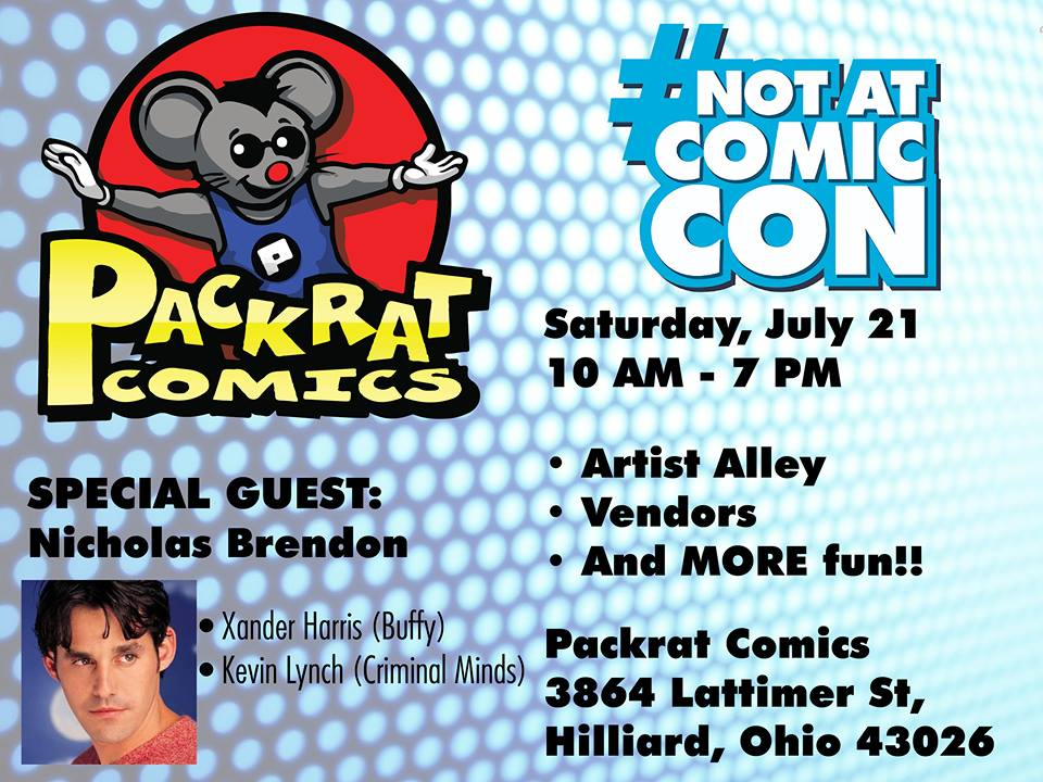 Not at Comic Con - July 21, 2018