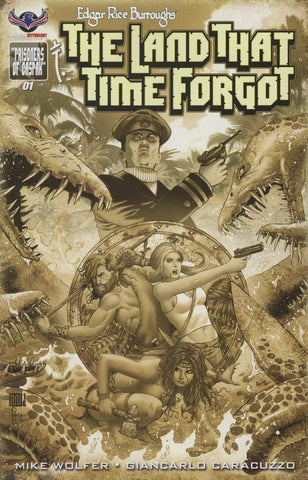 ERB LAND THAT TIME FORGOT #1 B&W 3 COPY INCV CVR (Net) (C: 0