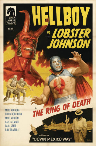 HELLBOY VS LOBSTER JOHNSON RING OF DEATH - Packrat Comics