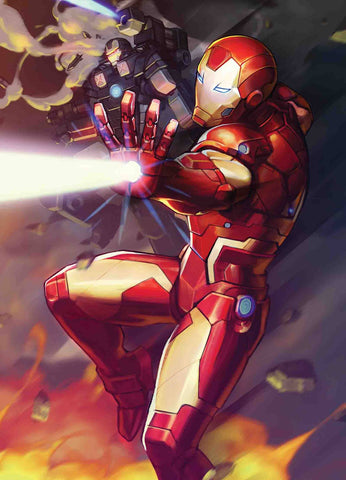 TONY STARK IRON MAN #12 NEXON MARVEL BATTLE LINES VAR - Packrat Comics