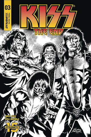 KISS END #3 30 COPY BUCHEMI B&W INCV - Packrat Comics