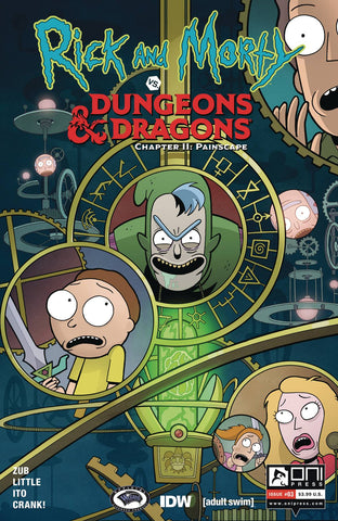 RICK & MORTY VS D&D II PAINSCAPE #3 CVR A ITO (MR) - Packrat Comics