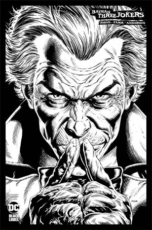 Batman Three Jokers #2 Cover D Incentive Jason Fabok Joker Black & White Cover - Packrat Comics
