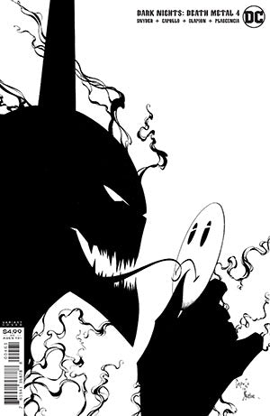 DARK NIGHTS DEATH METAL #4 (OF 6) 1:100 B&W CARD STOCK CAPUL - Packrat Comics