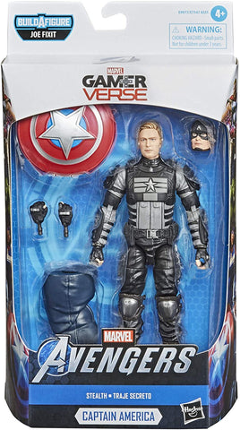 Hasbro Marvel Legends Series Gamerverse 6-inch Collectible Stealth Captain America Action Figure - Packrat Comics