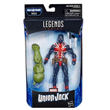Marvel Legends Series Union Jack 6-inch Collectible Action Figure Toy for Ages 6 and Up with Accessories and Build-A-Figure Piece