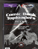 "BCW 7-1/4"" X 10-3/4"" SILVER Thick Comic Toploader 10ct - Packrat Comics"