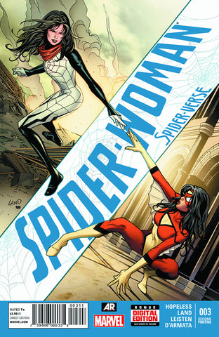 SPIDER-WOMAN #3 LAND 2ND PTG VAR SV (PP #1168) - Packrat Comics