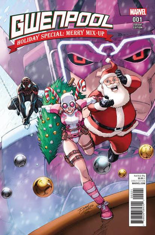 GWENPOOL HOLIDAY SPECIAL MERRY MIX UP LIM VAR - Packrat Comics