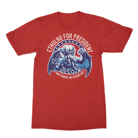 CTHULHU FOR PRESIDENT NY RED - Packrat Comics