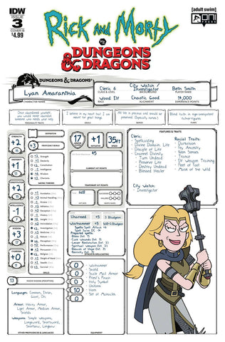 RICK & MORTY VS DUNGEONS & DRAGONS #3 (OF 4) CVR B LITTLE
