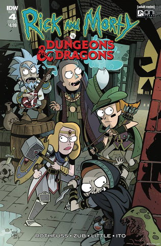 RICK & MORTY VS DUNGEONS & DRAGONS #4 (OF 4) CVR A LITTLE