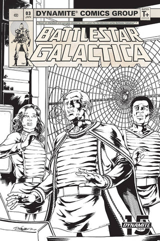 BATTLESTAR GALACTICA CLASSIC #3 1 in 20 COPY HDR B&W INCV - Packrat Comics