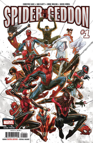 SPIDER-GEDDON #1 (OF 5) 2ND PTG MOLINA VAR
