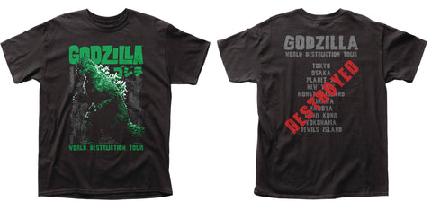 GODZILLA WORLD DESTRUCTION TOUR T/S - Packrat Comics