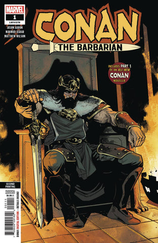 CONAN THE BARBARIAN #1 2ND PTG ASRAR VAR - Packrat Comics