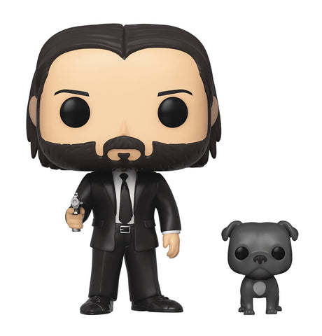 POP MOVIES JOHN WICK JOHN IN BLACK SUIT W/ DOG BUDDY VIN FIG