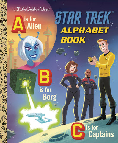 STAR TREK ALPHABET BOOK LITTLE GOLDEN BOOK (C: 0-1-0) - Packrat Comics